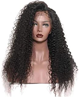 Long Curly Hand Tied Front Lace Synthetic Wig for women
