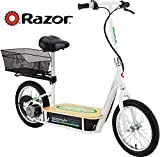 Razor EcoSmart Metro Electric Scooter – Padded Seat, Wide Bamboo Deck, 16' Air-Filled Tires, 500w High-Torque Motor, Up to 18 mph, 12-Mile Range, Rear-Wheel Drive