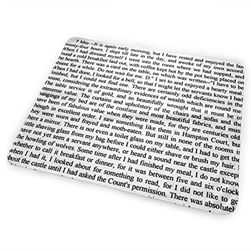 Dracula ~ Children Of The Night Text ~ Black And White Bed Pad Washable Waterproof Urine Pads for Baby Toddler Children and Adults 31.5 X 25.5 inch