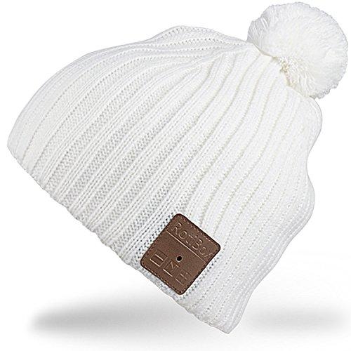 Rotibox lavable invierno para hombre de la Mujer Hat Bluetooth Beanie Cap...