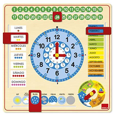 Goula - Reloj calendario - Juego educativo a partir de 3 años