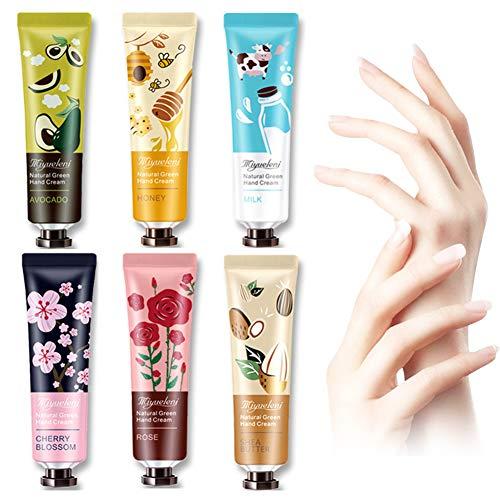 Hand Cream,Anti Aging Hand Cream,Hand Moisturizing Cream for Dry Cracked Hands, Non-greasy,Travel Gift Set for Men And Women -6 x 30ml