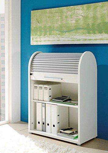 MJC Rolladenschrank, weiß, Rollladenschrank, Aktenschrank, Büroschrank, Büromöbel