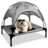 Floppy Dawg Just Chillin' Elevated Dog Bed. Medium and Large Size Dog Cots in a Variety of Colors. Removable Canopy. Used as an Indoor or Outdoor Dog Bed. Lightweight and Portable.