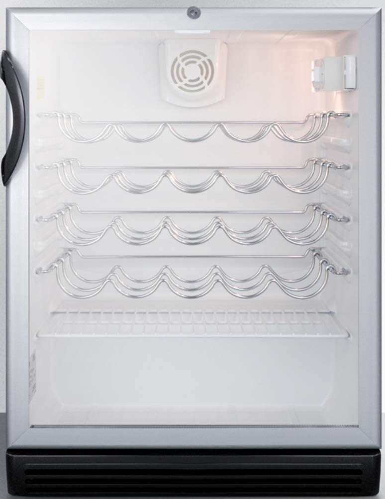 Summit Max 57% OFF SWC6GBLBIADA Sacramento Mall Wine Chiller Bl Beverage Refrigerator Glass