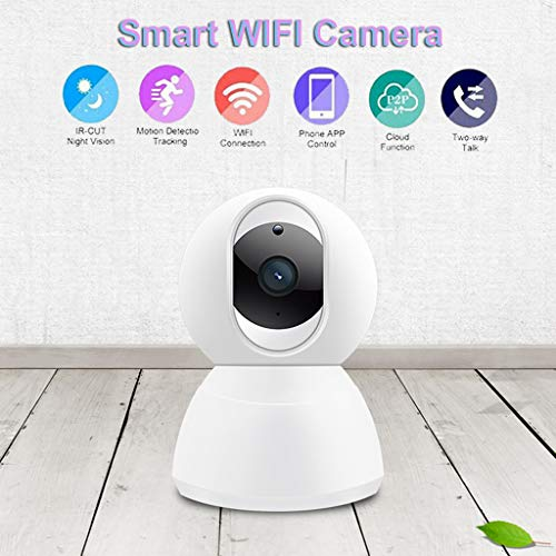 Casa Inteligente,TwoCC Almacenamiento en La Nube Cámara Ip Hd Vigilancia Wifi Seguridad Visión Nocturna Audio Bidireccional