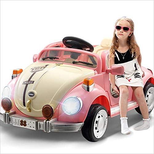 Kinder-Elektro-Auto-Schaukel vier Rad Fernbedienung Spielzeugauto kann Menschen Elektroauto Blautooth-Fernbedienung sitzen (Farbe   Rosa)