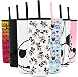 Simple Modern Disney Character Insulated Water Bottle Tumbler with Straw Lid Reusable Stainless Steel Wide Mouth Travel Cup, 24oz, Mickey Mouse Retro