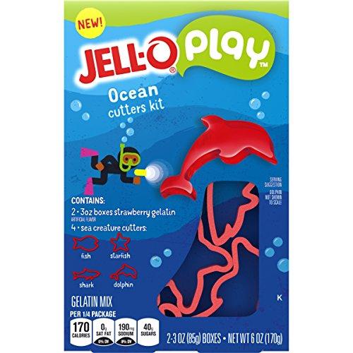 JELL-O Play Ocean Cutters Gelatin Dessert Kit (6 oz Box)