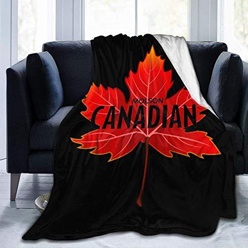 ChenShengDao123 Molson Kanadisches Bier Ultraweiche Micro Fleece Decke Winter Leichte Steppdecke Warmhalten Stoff Niedliche Decke Bett Sofa Home Office 50''x40''