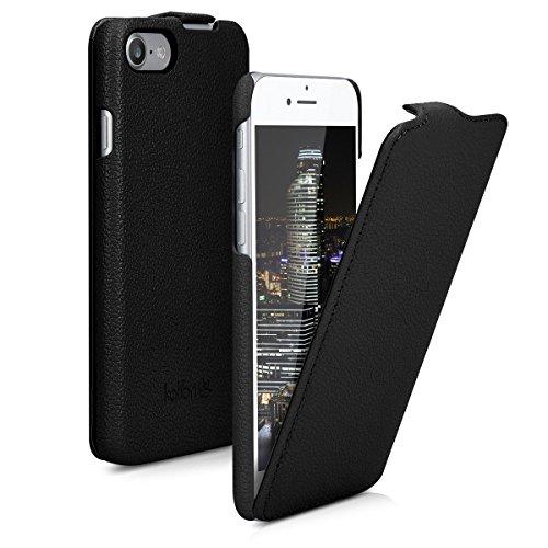 kalibri Flip Hülle Ultra Slim kompatibel mit Apple iPhone 7/8 / SE (2020) - Leder Hülle Schutzhülle Tasche in Schwarz
