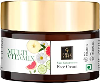 Good Vibes Multi Vitamin Skin Enhancement Face Cream, 50 g Deep Moisturization & Skin Improvement For All Skin Types, Help...