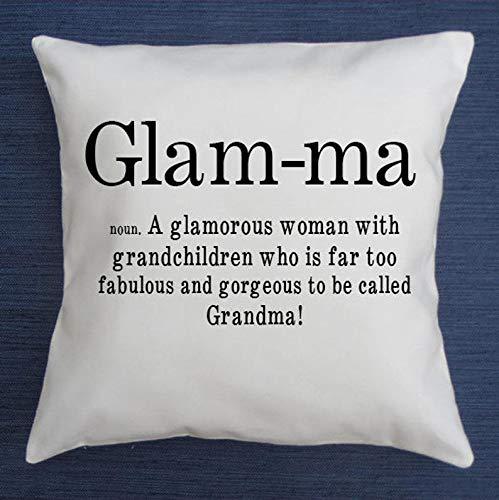 Just1243on Glam-ma Kissenbezug Glam ma Wurfkissen New Oma Geschenk Oma Geschenk Glamma Kissenbezug Mutter Geschenk...