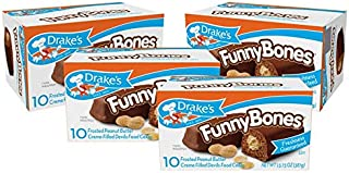 Drake's Funny Bones, 4 Boxes, 40 Twin-Wrapped Devils Food Cakes