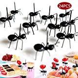 Ant Toothpicks Fruit Dessert Fork (24Pcs) – Reusable Animal Fruit Food Picks Animal Appetizer Forks for Snack Cake Dessert with Storage Box for Kids Wedding Birthday Party (24PCS)