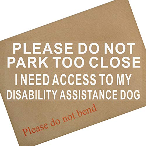 Platina plaats ik nodig toegang tot mijn handicap ASSISTANCE Dog-Please niet parkeren te close-Window Sticker-Car,Van,Truck,Vehicle,Disability,Mobility Zelfklevende Vinyl teken Handicapped Logo