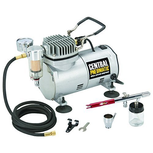 1/5 HP 58 PSI Oilless Airbrush Compressor Kit from TNM by Central Pneumatic