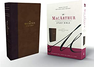 The NKJV, MacArthur Study Bible, 2nd Edition, Leathersoft, Brown, Thumb Indexed, Comfort Print: Unleashing God's Truth One Verse at a Time