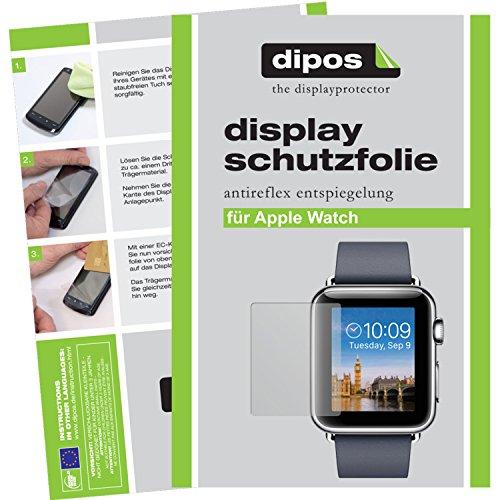 dipos I 6X Schutzfolie matt kompatibel mit Apple Watch 38mm Folie Displayschutzfolie