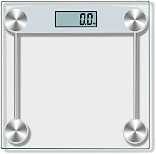 Swyss Digital Body Weight Bathroom Scale, Accurate Weight Measurements Scale,Tempered Glass,150KG/330 Pounds Black