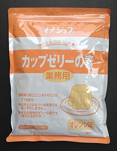 伊那食品 カップゼリーの素 オレンジ600g