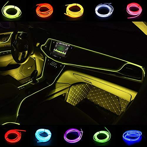 USB 5M/16FT El Wires Strisce luminose Luce elettroluminescente Luci al neon incandescenti per seggiolino auto / Console / Porta / Cruscotto...
