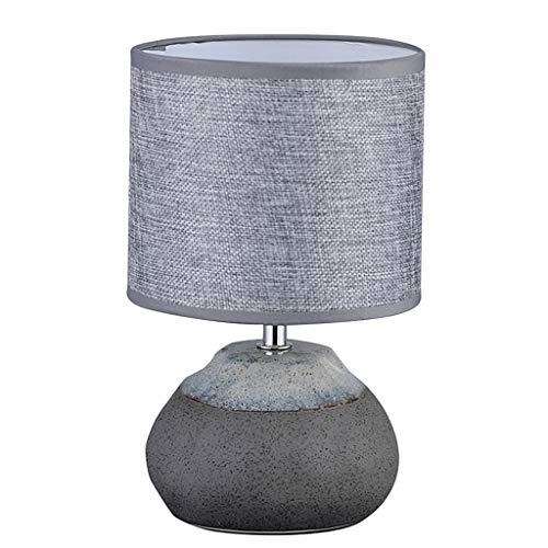 OUMIFA Lámpara de Mesa Mesa de mesita de Noche Simple Lámpara de Piedra Creativa Mesa de Mesa pequeña lámpara Gris Tambor lámpara Estudio Estudio Sala de Estar Escritorio lámpara Lámpara de Noche