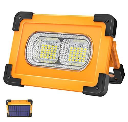 T-SUN Faro LED Ricaricabile da 80 W Faretto Solare da Cantiere Con Batteria da 11000 mAh Proiettore LED Portatile 4 Modalità Lampada LED Super Luminoso Per Lavoro all'aperto