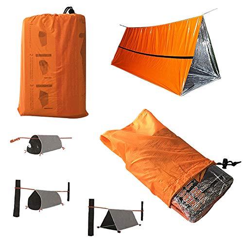 Emergency Thermal Foil Authentic Mylar Space Dekens, Survival Slaapzak noodsituatie, noodsituatie Tent voor Survival Kit Camping Auto Outdoors