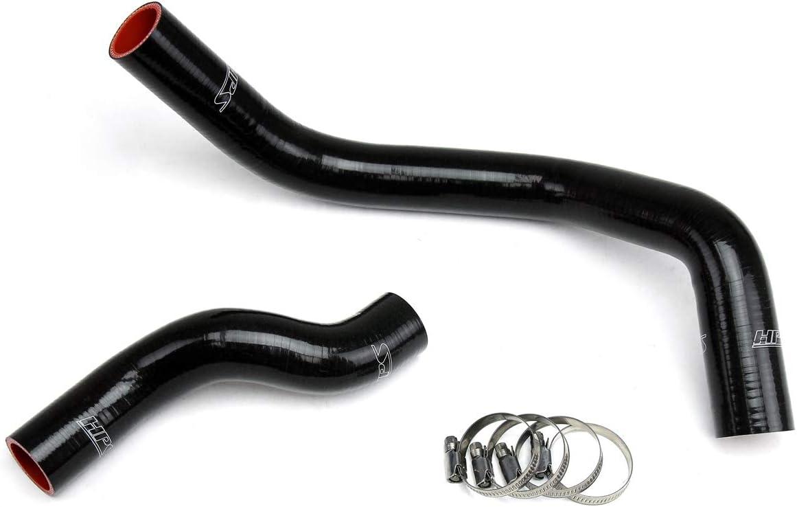 HPS 57-1045-BLK Black Silicone Radiator Coolant Hose Kit