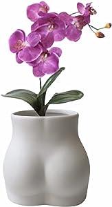 Butt Vase - Butt Planter - Body Vase Female Form - Body Planter - Cheeky Vase - Body Flower Vase - Boho Vase - Booty Vase - Modern Boho Home Decor - Body Shaped Vase (Ceramic White Matte Vase)