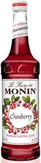 Monin - Cranberry Syrup, Tangy and Sweet Berry Flavor, Natural Flavors, Great for Margaritas, Cocktails, Hot and Cold Berr...