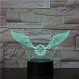 Pequeña Bola Voladora Regali Unici Della Mamma Amore Romantico 3D Luce Notturna A Led Lampada Da Tavolo Con Cambio Di Colore Home Decor Lampada Da Comodino A 16 Colores