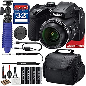 Nikon COOLPIX B500 Digital Camera  Black  Bundle + Accessory Package