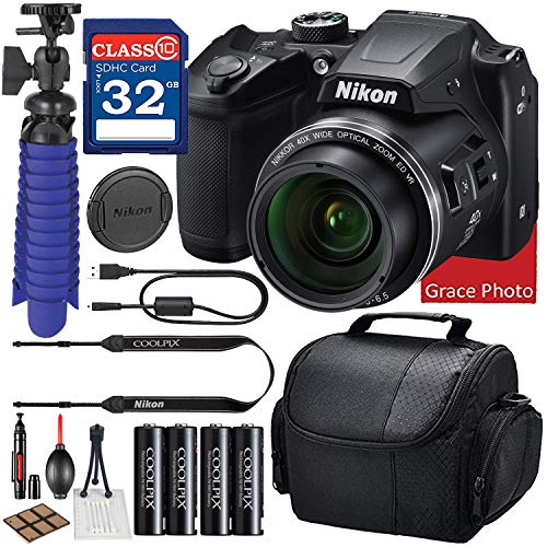 Nikon COOLPIX B500 Digital Camera (Black) Bundle + Accessory Package