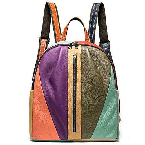 Eysee Leather Backpack Women Travel Bag Fashion Daypack Color Bag
