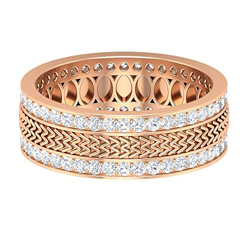 Rosec Jewels 14 quilates oro rosa redonda H-I Diamond