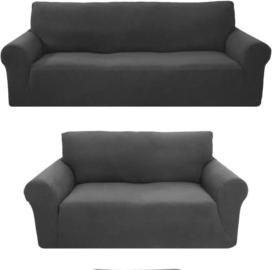 LinenTopia 3-Piece Brushed Premium SlipCover Philadelphia Mall for Set Sofa Safety and trust Lovese