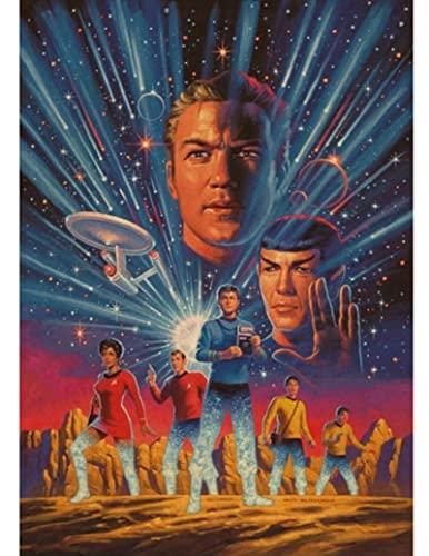 FAYUAN Toile Affiche Star Trek Affiche Bande Dessinée Affiche Art Peinture Visage Abstrait Wall Sticker 50 * 70 Cm Couleurs (Pas De Cadre)