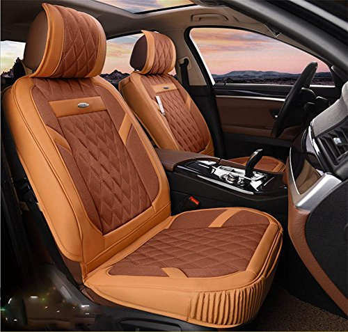 AMYMGLL 3D Universal Car Coussin cuir Deluxe Edition (6set) Pad Universal Car Cover Four Seasons Universal 3 couleurs options , #32
