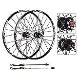 AIFCX Bicicleta de Ruedas, 27.5 Pulgadas MTB de Doble Pared de Ciclismo Ruedas de liberación rápida Disco de Freno 24...
