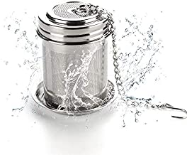 House Again Tea Ball Infuser & Cooking Infuser, Extra Fine Mesh Tea Infuser Threaded Connection, 18/8 Stainless Steel with Extended Chain Hook to Brew Loose Leaf Tea, for Single Cup