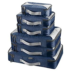 G4Free 3pcs / 6pcs / 7pcs Packing Cubes de Embalaje Organizador de Maletas Organizador de Embalaje de Equipaje Valor Establecido para Viajes