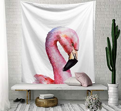 SCVBLJS Flamingo Art Arazzo Appeso A Parete Tessuto Appeso A Parete Decor per Camera da Letto Soggiorno Dormitorio Coperta Yogar Coperta Meditazione 150X130 Cm
