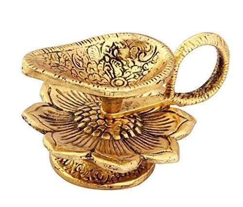 Sataanreaper Geschenke Oxidiertes Metall Goldenen Chirag Diya Für Pooja Oder Puja Deepak Artikel (4X3 Zoll) # Sr-051
