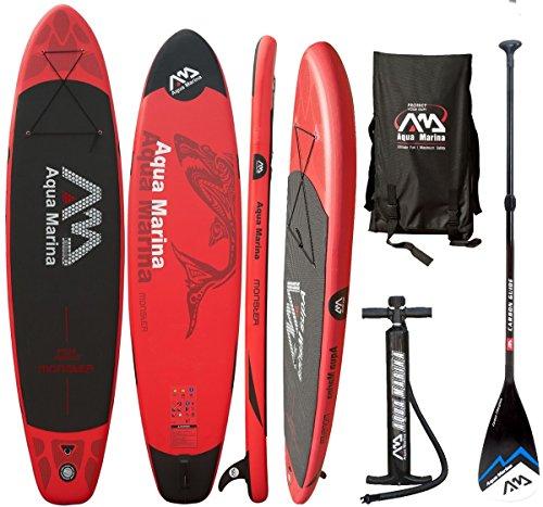 AQUA MARINA Monster SUP inflatable Stand Up Paddle Carbon Fiberglass Paddle