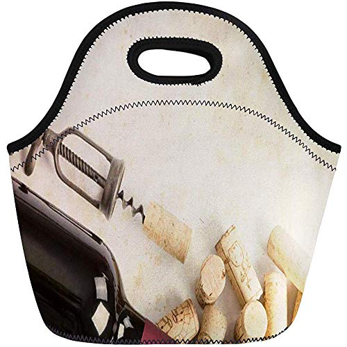 Lunch Tassen Stopper Fles wijn drinken drank drank Opener Neopreen Lunch Bag Lunchbox Tote Bag Draagbare Picknick Bag Cooler Bag