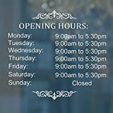 Magopera Business Hours Sign for Glass Door Sticker, Hours of Operation Window Sign with Customized ChangeableDIY Numbers, Store Hours Vinyl Window Decal