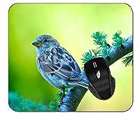 縁がステッチされた印刷されたマウスパッド鳥雀ブランチマウスパッド