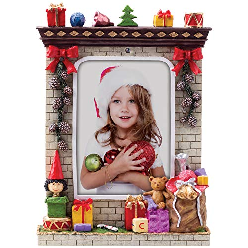 Fine Photo Gifts 5' x 7' Light Up Christmas Winter Resin Picture Frame